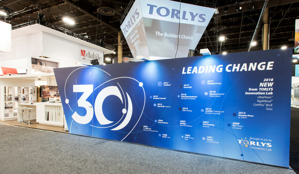 TORLYS Print Booth Signage
